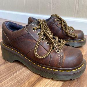 Dr. Martens Leather Lace Up Platform Keani Shoes
